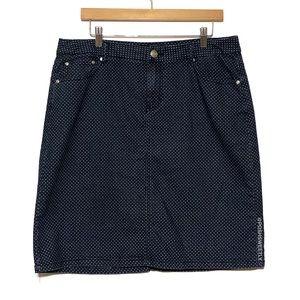 Cato Polka Dot Denim Skirt